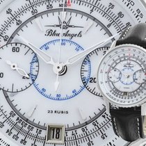 Poljot Poljot Chronograph 3133 Blue Angels white Glassboden Neu Stahl 40mm Handaufzug