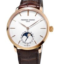 康思登 Manufacture Slimline Moonphase 鋼 42mm 銀色 無數字