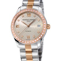 Frederique Constant Ladies Automatic Double Heart Beat Gold/Steel 36mm Grey