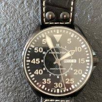 Hamilton Khaki Pilot Zeljezo 46mm Crn