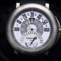 Gérald Genta Titanium Automatic White Arabic numerals 45mm pre-owned Arena Bi-Retro
