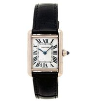 Cartier Tank Louis Cartier White gold 25mm Silver Roman numerals United States of America, California, Los Angeles