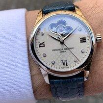 Frederique Constant Ladies Automatic Double Heart Beat Steel 36mm Grey Roman numerals