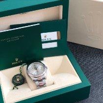 Rolex Silber Automatik Grau Keine Ziffern 41mm gebraucht Datejust II