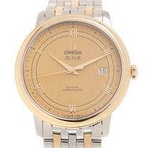 Omega Pозовое золото Автоподзавод Золотой 39.5mm новые De Ville Prestige