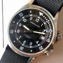Hamilton Khaki Navy Sub Steel 40mm Arabic numerals