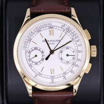 Patek Philippe Chronograph pre-owned 39mm Silver Chronograph Leather
