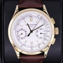 Patek Philippe Chronograph Yellow gold 39mm Silver Roman numerals United States of America, New York, New York