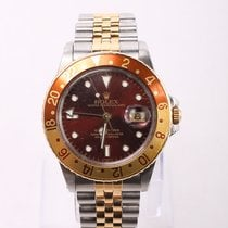 Rolex GMT-Master Gold/Steel 40mm Brown No numerals