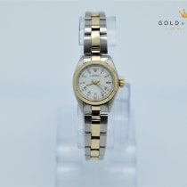 Rolex Yellow gold Automatic White Roman numerals 26mm pre-owned Oyster Perpetual 26