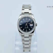 Rolex Steel Automatic Blue No numerals 36mm pre-owned Datejust
