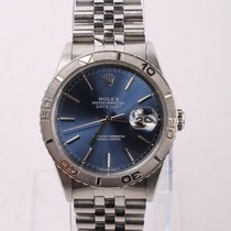 Rolex Datejust Turn-O-Graph Stahl 36mm Blau Keine Ziffern