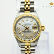 Rolex Oyster Perpetual Lady Date Gold/Steel 26mm Mother of pearl