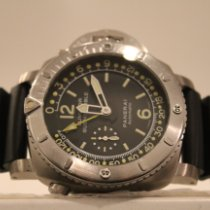 Panerai Luminor Submersible 1950 Depth Gauge Titanio 47mm Negro