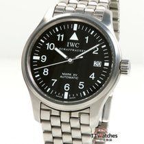 IWC Pilot Mark Stål 38mm Svart Arabiska