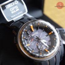 Seiko Astron GPS Solar Steel 48,2mm Black No numerals
