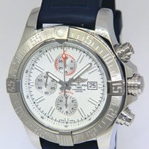 Breitling Super Avenger II pre-owned 48mm White Chronograph Date Rubber