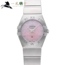 Omega Constellation Quartz Acero 25mm Rosa
