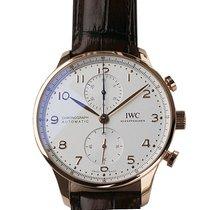 IWC Portuguese Chronograph Oro rosa 41mm Plata