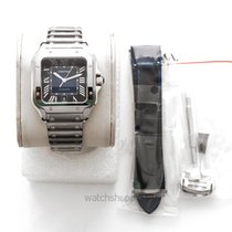 Cartier Santos (submodel) Steel 47.5mm Blue United States of America, California, Burlingame