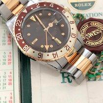 Rolex GMT-Master Goud/Staal 40mm Bruin Geen cijfers
