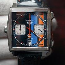 TAG Heuer Monaco Calibre 11 Ocel 39mm Modrá Bez čísel