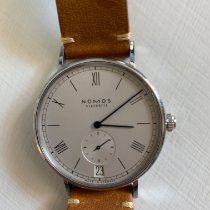 NOMOS Ludwig Automatik pre-owned 40mm White Date Leather