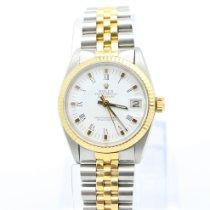 Rolex Datejust Oro amarillo 31mm Blanco Romanos