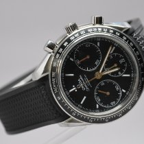 Omega Silver Automatic Black Arabic numerals 40mm pre-owned Speedmaster Racing