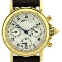 Breguet Damenuhr Marine 30mm Automatik gebraucht Uhr mit Original-Papieren 1992