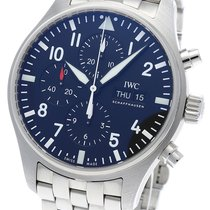 IWC Pilot Chronograph Ocel 43mm Černá Arabské