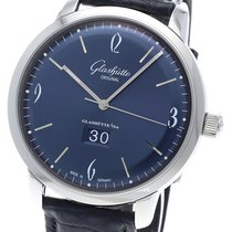 Glashütte Original Sixties Panorama Date Acier 42mm Bleu