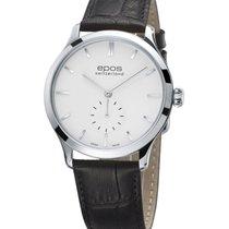 Epos Originale Acier 39mm Blanc Sans chiffres