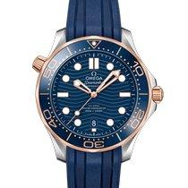 Omega Seamaster Diver 300 M neu 2019 Automatik Uhr mit Original-Box und Original-Papieren 210.22.42.20.03.002