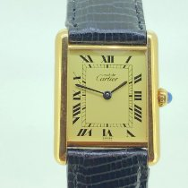 Cartier Tank Vermeil pre-owned 24mm Champagne Leather