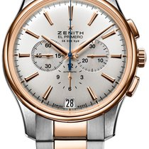 Zenith Captain Chronograph Gold/Steel 42mm Silver