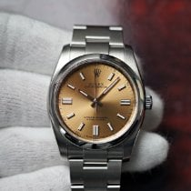 Rolex Oyster Perpetual 36 Acero 36mm Champán Sin cifras