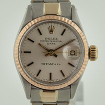 Rolex Oyster Perpetual Lady Date pre-owned 26mm Silver Date Gold/Steel