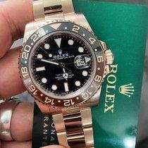 Rolex Pозовое золото Автоподзавод Черный Без цифр 40mm новые GMT-Master II