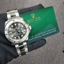 Rolex Yacht-Master 40 Altın/Çelik 40mm Gri Rakamsız