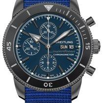 Breitling Superocean Héritage II Chronographe Stahl 44mm Blau Keine Ziffern