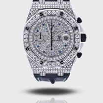 Audemars Piguet Steel Automatic Mother of pearl pre-owned Royal Oak Offshore Chronograph