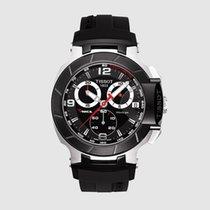 Tissot Acero Cuarzo Negro Arábigos 45.3mm nuevo T-Race