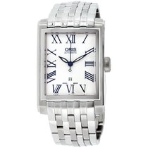 Oris Rectangular Steel 30mm Silver Roman numerals United States of America, New Jersey, Somerset