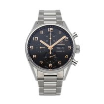 TAG Heuer Carrera Calibre 16 pre-owned 43mm Black Chronograph Date Fold clasp