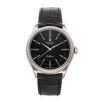 Rolex Cellini Time Or blanc 39mm Noir Sans chiffres