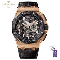 Audemars Piguet Royal Oak Offshore Tourbillon Chronograph Roségoud 44mm Doorzichtig Arabisch