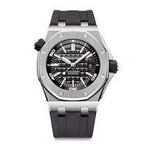 Audemars Piguet Royal Oak Offshore Diver Acero 42mm Negro Sin cifras