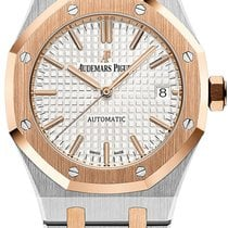 Audemars Piguet Royal Oak Selfwinding Gold/Steel 37mm Silver No numerals