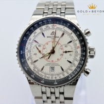 Breitling Montbrillant Légende pre-owned 47mm White Chronograph Date Steel